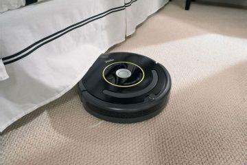 automatische stofzuiger die het huis schoon houdt