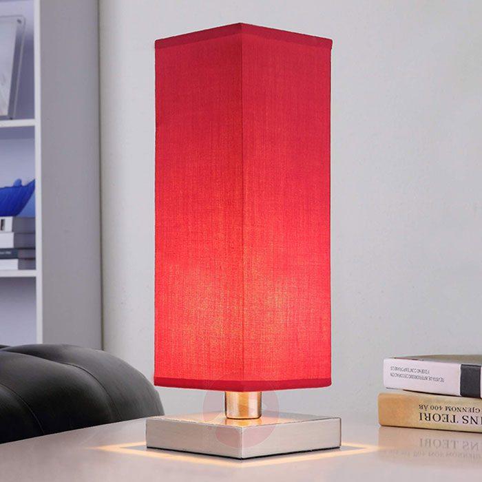 rode nachttafellamp lampen24